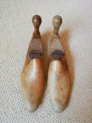 Antique/Vintage Wooden Hinged Shoe Trees