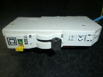 Square D 20A RCBO QOE Qwikline Old Style Plug In