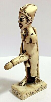 INTACT Egyptian statue and figures with phallic penises circa 1900-1000 BC 105mm