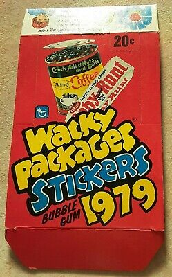 1979 Wacky  Packages Stickers Empty Box  Topps **Super Nice Condition** -------