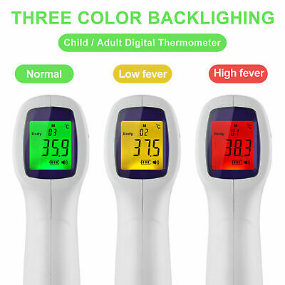 Digital LCD Thermometer Infrared Forehead Non-touch Baby Adult Temperature Gun--