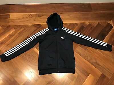 ADIDAS kids blue tracksuit top, size 11-12 yrs, VGC!