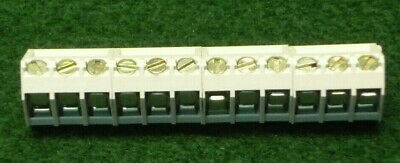 40 off PCB Terminal Block 12 WAY PCB mount 5mm Pitch Interlocking (4 x 3 way)