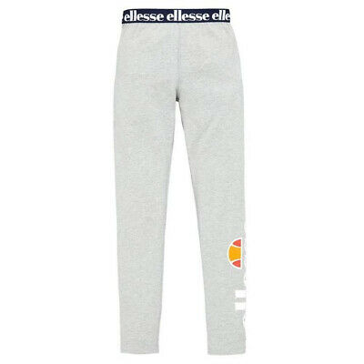 Ellesse Heritage Fabi Youth Kids Girls Legging Tight Trouser Grey