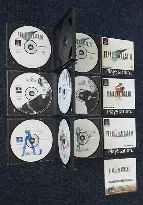 "Playstation 1 PS1 ""Final Fantasy VII 7 + VIII 8 + IX 9"" 3 Teile - KOMPLETT -"