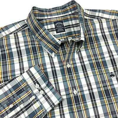 NEW Brooks Brothers Mens Casual Shirt Big & Tall 4XLT Supima Cotton Non-Iron
