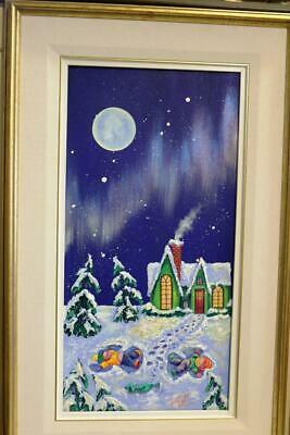 Reduced Original Denyse Klette Belly Button Series Acrylic Canvas Its A Boo Moon