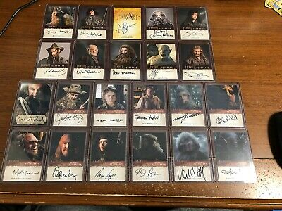 The Hobbit An Unexpected Journey Desolation Of Smaug Autograph Lot X22 Cards!