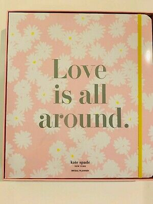 "Kate Spade New York  Ms. Magazine Bridal Planner ""Love is All Around""12""x10 3/4"""