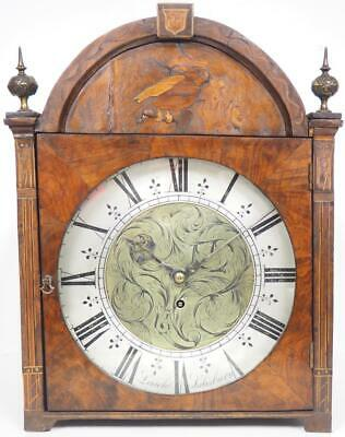 Burr Walnut Fusee Bracket Clock Regency 8 Day Fusee Mantel Clock Leach Salisbury
