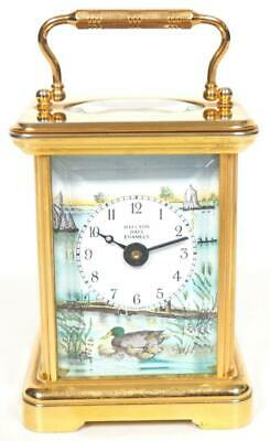 Awesome Antique 8Day Carriage Clock Miniature Halcyon Days Enamel carriage Clock