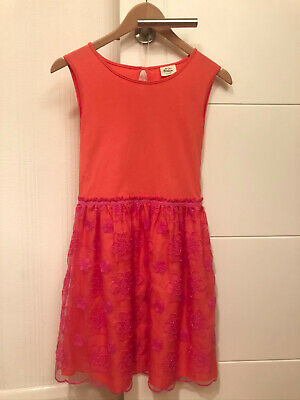 Mini Boden party dress, size 11-12, pink/coral, very good condition.
