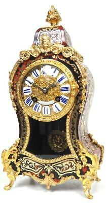 Amazing Red Boulle Ormolu French Mantel Clock 8 Day Striking Mantle Clock c1870