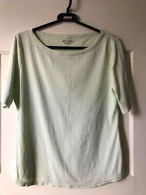Ladies M&S Lime T shirt/Top, Short Sleeve - Size 18 - Brilliant Condition