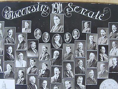 Rare 1911 Wisconsin Senate Real Photo Portrait Postcard Us Politics
