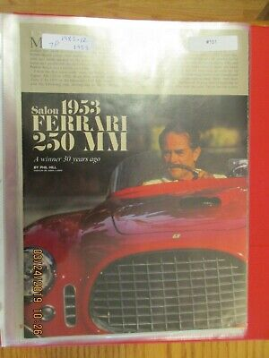 Ferrari Ads, Articles & Road Tests Group #16 Misc to 1984 Models Choice of ONE
