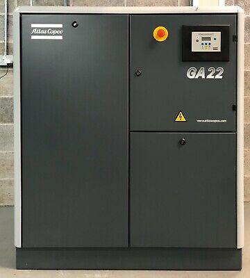 Atlas Copco GA22 Rotary Screw Compressor 22Kw, 13Bar, 100Cfm Immaculate Order!