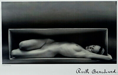 Ruth Bernhard (1905-2006) In the Box (Horizontal) Lithograph Signed ~ Nude Lady