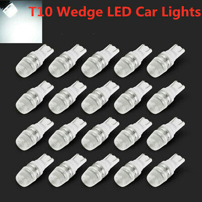 20x T10 White 12V LED 194 168 158 W5W 501 Side Car Auto Wedge Dashboard Light