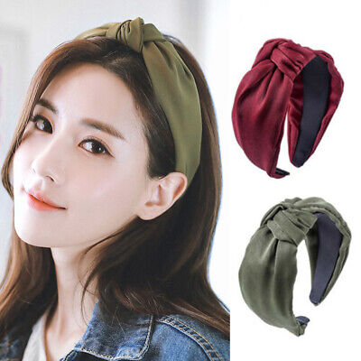 Women Wide Velvet Cross Knot Headband Hairband Alice Band Headwear