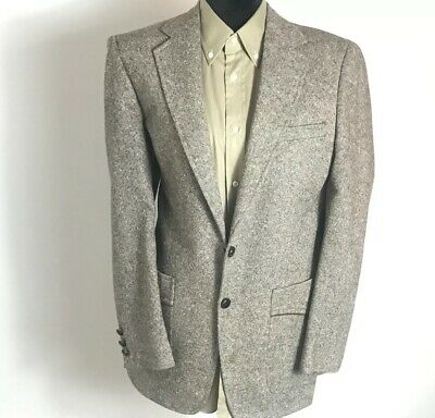 Botany 500 Mens Suede Elbow Patches Sports Blazer Suit Jacket Buttons Up Size 48