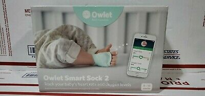 Owlet Smart Sock 2 Baby Monitor Heart Rate/Oxygen Levels New Factory Sealed