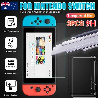 For Nintendo Switch Genuine 100% TEMPERED GLASS 9H Screen Protector Cover Film