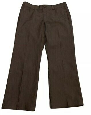 Lee Platinum Womens Trousers Size 16 Pants NO GAP WAISTBAND Stretch Brown Work