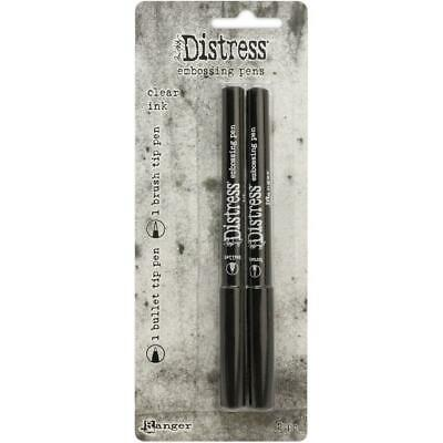 Tim Holtz Distress Ink - Clear Embossing Markers - 2 Pens - NEW!