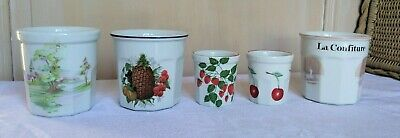 Lot Pots à Confiture en Porcelaine Apilco Pillivuyt