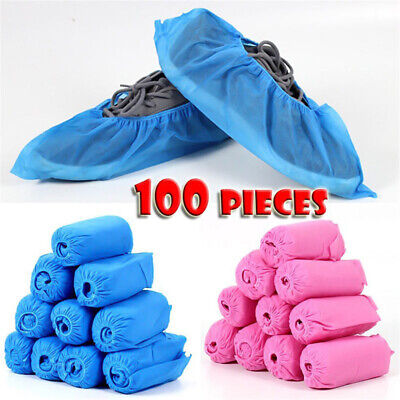 100pcs Disposable Shoe & Boot Covers Household Non-slip Odor-proof Galosh