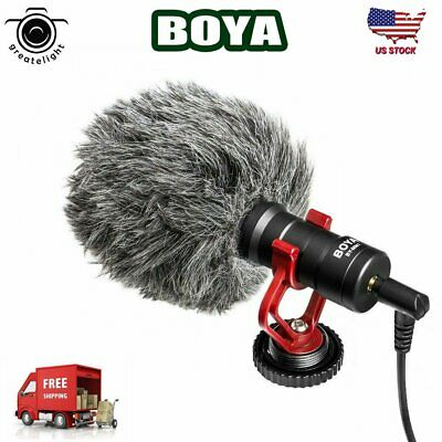 BOYA BY-MM1 Microphone Metal Electric Condensor Video for Smartphone Camera DSLR