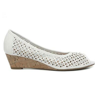 Lilley Womens White Wedge Court Shoe Size UK 3,4,5,6,7,8