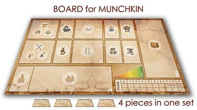 MUNCHKIN GAME LCG BOARD GAMEBOARD CCG PLAYMAT LIVING CARD GAME 4x PIECES