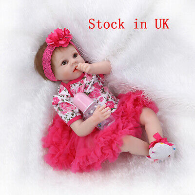 Soft Silicone Vinyl 22'' Reborn Dolls Lifelike Newborn Doll Toy Holiday Gifts