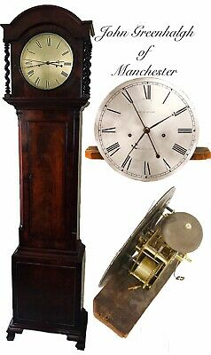 Mahogany Deadbeat Escapement Regulator Longcase Clock Greenhalgh of Manchester