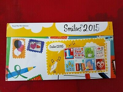 GB Stamp Presentation Pack Smilers 2015 No M23 Dated 20.1.15