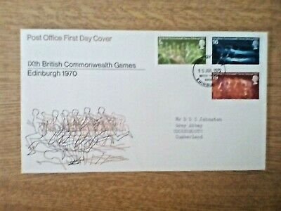 S...... Gb Collection 1970 Commemorative Fdc Commonwealth Games.
