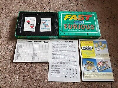 Fast And Furious Card Game Complete By Gibsons Games Cards Unopened