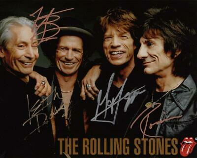 REPRINT - ROLLING STONES Mick Jagger Signed  8 x 10 Glossy Photo Poster RP