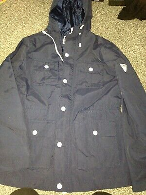 sonneti 12-13 Years Blue Anorak Coat Woth White Buttons Immaculate Comdition