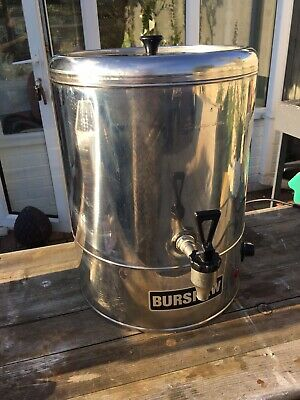 Burwash Catering Water Urn Switch On Tea Urn, Water Boiler, Industrial 4 Gallons