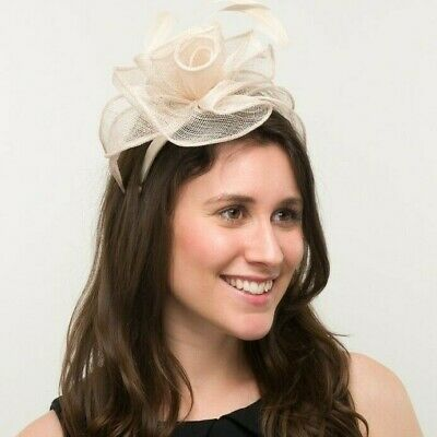 New Ladies Outdoor Occasion Wedding/Races Fascinator Style F3330 Ivory