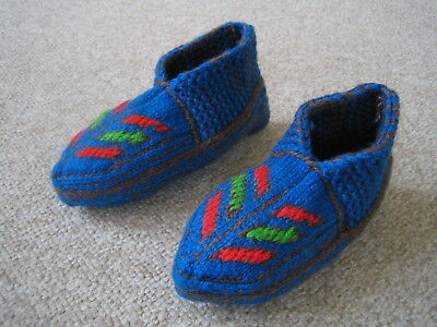 NO RESERVE Hand-Made Children's Winter Thermal Socks/Slippers