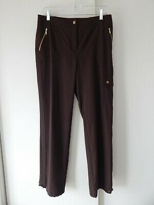 womens brown CHICOS ZENERGY pants sport athletic athleisure pockets regular 1