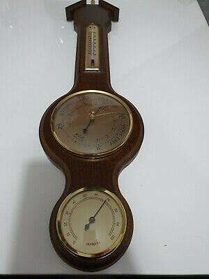 WOODEN 3 in 1 BAROMETER, THERMOMETER & HYGROMETER indoor use weather station