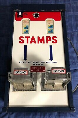 Postage Stamp Vending Machine - Two Vertical 8 Coin Slots