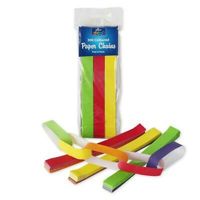 300 Paper Chains Rainbow Colours Isolation Lockdown Window Friends Decoration