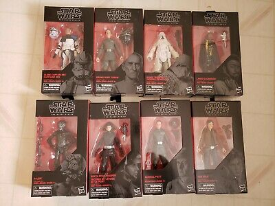 Star wars the black series 8 lot Captain Rex, 4 Lom, Admiral Piett & more.