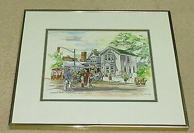 Original Art W/C Summer Fair Markham Ontario by Gordon Polson '94